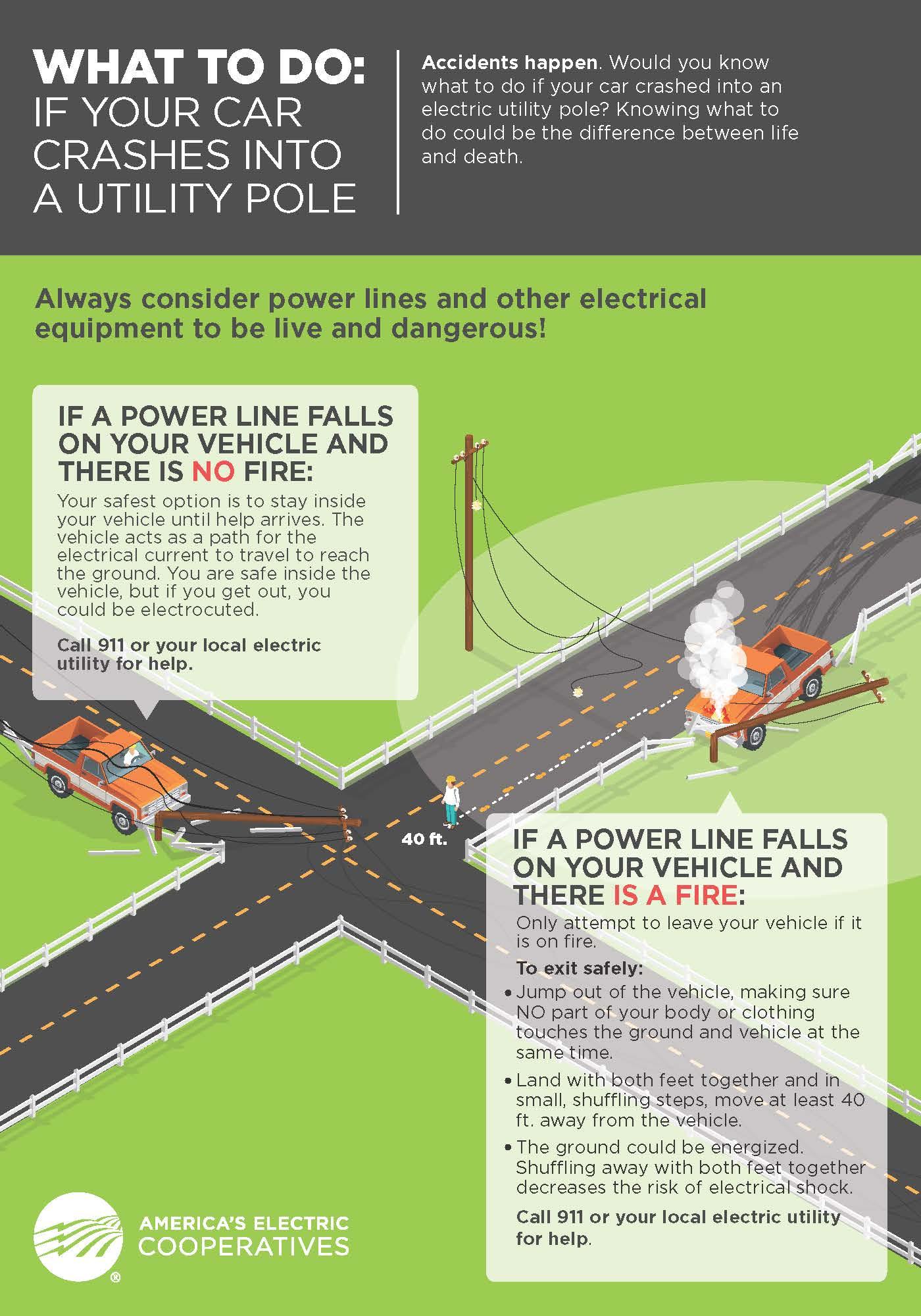 Vehicle Pole Collision Graphic