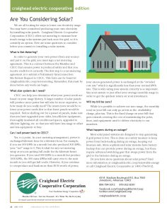 Are you considering Solar?