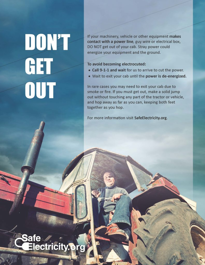 Don't Get Out Farm Safety Graphic