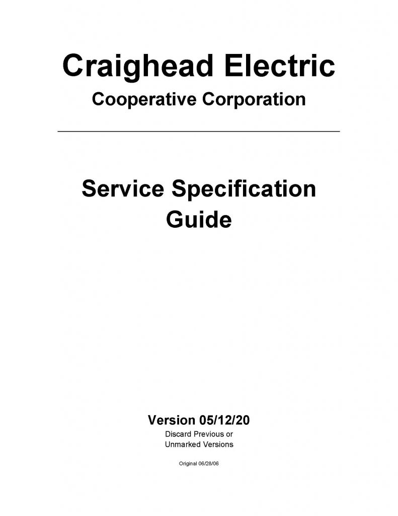 Front Cover Of All Meter Specification Sheets