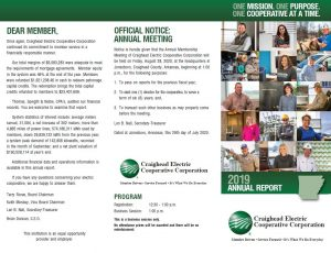 Screenshot of Annual Report Official Notice Page