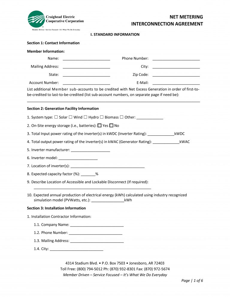Standard Interconnection Agreement Form_Page_1